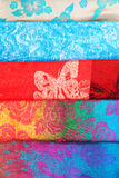 Colorful fabric samples Royalty Free Stock Photos