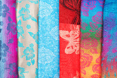 Colorful fabric samples Stock Photo