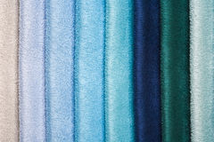 Colorful fabric samples, close-up Stock Photo
