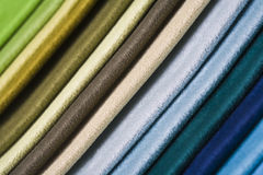 Colorful fabric samples, close-up Royalty Free Stock Photo