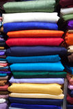 Colorful fabric silk Stock Images