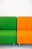 Colorful fabric sofa Royalty Free Stock Images