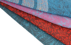 Colorful fabric stack Royalty Free Stock Photography