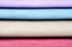Colorful fabric swatches. On studio stock images