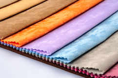 Colorful fabric swatches Royalty Free Stock Photo