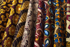 Colorful Fabric Swatches in Zimbabwe Stock Photography