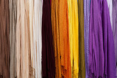 Colorful fabric and textiles Royalty Free Stock Photo