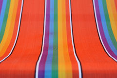 Colorful fabric texture from beach chair. Vibrant and colorful fabric texture from beach chair Stock Photo