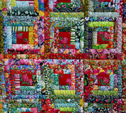 Colorful fabric texture. Motley colorful fabric texture ethnic Slavic style royalty free stock photography