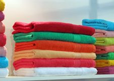 Colorful fabric turkish bath cloth, colors Royalty Free Stock Photo