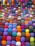 Colorful fabric turkish silk carpet, colors, Royalty Free Stock Image