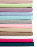 Colorful Fabric on White Background Royalty Free Stock Images