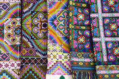 Colorful Fabrics Royalty Free Stock Photography