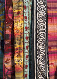 Colorful fabrics Stock Image