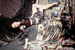 Colorful fabrics Royalty Free Stock Image