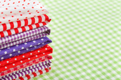 Colorful fabrics Royalty Free Stock Photos