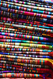 Colorful fabrics. With various patterns Royalty Free Stock Image