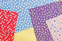 Colorful fabrics Stock Photo