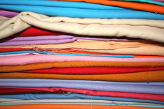 Colorful Fabrics Background Stock Photos