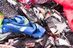 Colorful fabrics background Stock Images