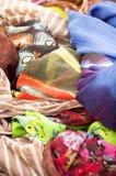 Colorful fabrics background Royalty Free Stock Photos
