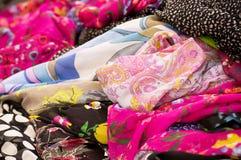 Colorful fabrics background Royalty Free Stock Photography