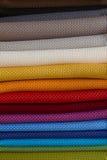 Colorful fabrics. Background colorful fabrics Stock Photos