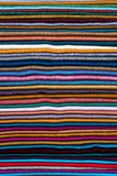 Colorful fabrics. Horizontal layers of colorful fabric, suitable for a textured background stock photography