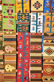 Colorful fabrics. Colorful rugs, hand made at Oaxaca, Mexico royalty free stock photography