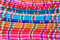 Colorful Fabrics Stock Photography