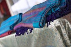 Colorful fabrics. Royalty Free Stock Photo