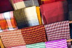 Colorful fabrics. Stock Photo