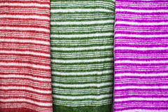 Colorful fabrics. Stock Photos