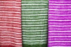 Colorful fabrics. Stock Photos