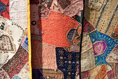 Colorful fabrics for sale, nepal Royalty Free Stock Images