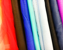Colorful fabrics selection Stock Photo
