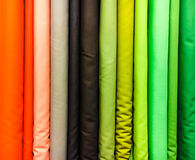 Colorful fabrics selection Royalty Free Stock Images