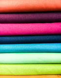 Colorful fabrics selection Stock Images