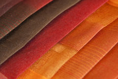 Colorful fabrics stacked Stock Photo