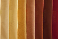 Colorful fabrics stacked Stock Image