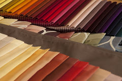 Colorful fabrics stacked Stock Photos
