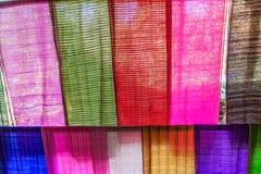 Colorful fabrics Stock Image