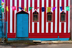 Colorful facade. Colorful hindu temple decoration facade Royalty Free Stock Images