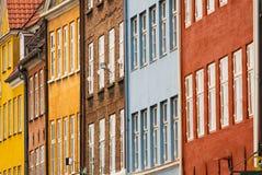 Colorful facade. S of Copenhagen (Denmark royalty free stock photos