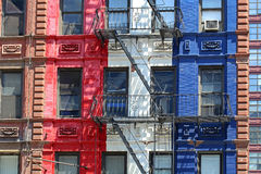 Colorful facade of building Stock Photo