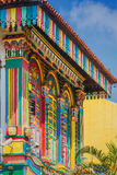 Colorful facade of building in Singapore. Colorful facade of building in Little India, Singapore royalty free stock photo