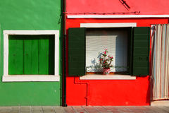 Colorful facade on Burano Royalty Free Stock Photos