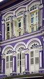 Colorful facade in Chinatown, Singapore Royalty Free Stock Photo