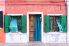 Colorful facade entrance Stock Photography