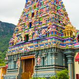Colorful facade of a Hindu temple in Victoria at Stock Photography